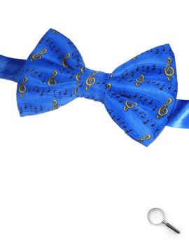 Music Notes on Blue Bow Tie