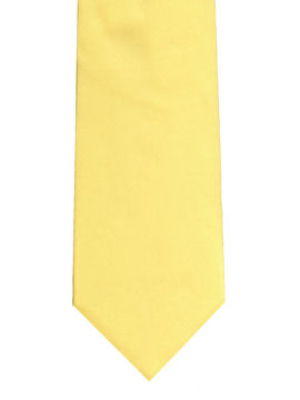 Plain Light Yellow Tie