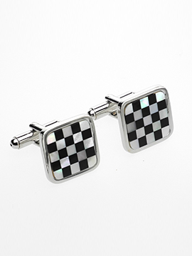 Cufflinks - Chequered