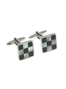 Black & White Square Cufflinks - TIE STUDIO