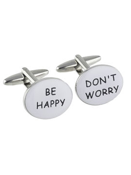 Dont Worry Be Happy Cufflinks