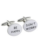 Dont Worry Be Happy Cufflinks - TIE STUDIO