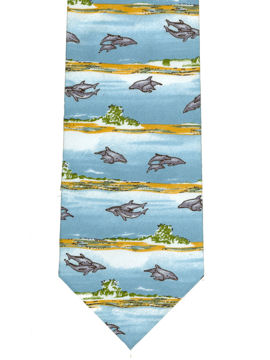 Dolphins on sandy beaches Tie