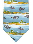 Dolphins on sandy beaches Tie - TIE STUDIO