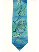 Dolphins in bubbly waters - TIE STUDIO