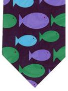 Flat fish - blue green purple - TIE STUDIO