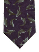 Dolphins swimming small motif - TIE STUDIO