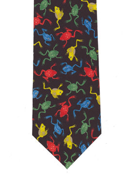Frogs colourful Tie