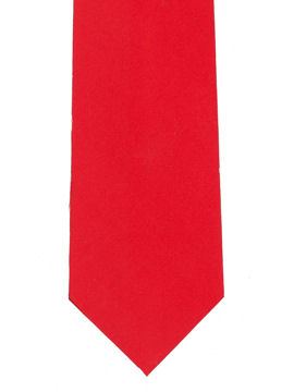 Plain Bright Red Tie