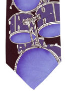 MUSIC - DRUMS blue - TIE STUDIO