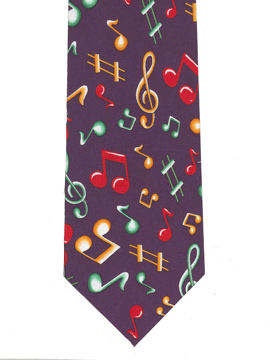 MUSIC - notes colourul (medium) Tie