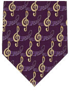 MUSIC - Treble Clefs Purple - TIE STUDIO