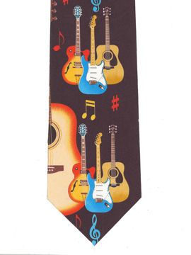 MUSIC - Guitars standing Tie
