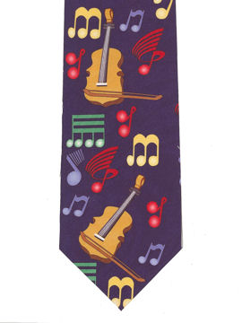 MUSIC - Violins Art Deco Tie