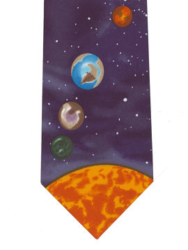 Planets - sun at tip Tie