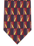 CRICKET - red/navy - TIE STUDIO