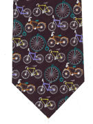 Cycles Tie on black - TIE STUDIO