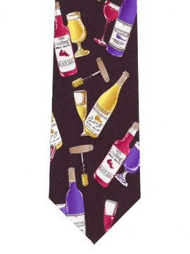 Wine Bottles Colourful Tie