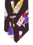 Wine Bottles Colourful Tie - TIE STUDIO
