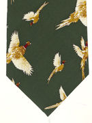 Pheasants flying on green - TIE STUDIO