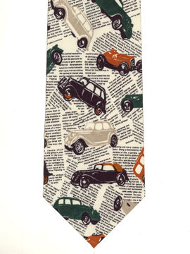 Cars on newsprint