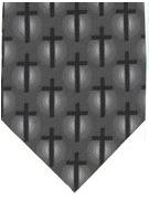 Crosses on grey - TIE STUDIO