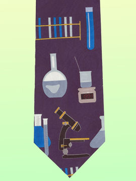Chemistry and microscope Tie