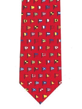 Nautical Flags Tie (Red)