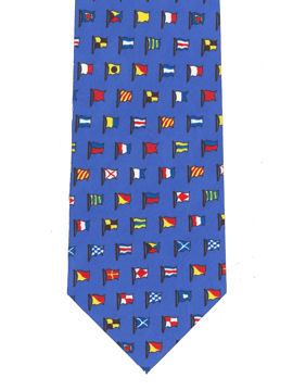 Nautical Flags Tie (Blue)
