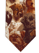 Dogs on brown - TIE STUDIO