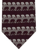 Elephants - black/ grey - TIE STUDIO