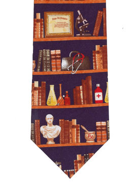 Books, stethoscope and microscope