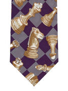 Chess Board Tie - TIE STUDIO