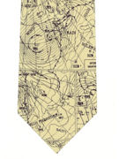 Weather Map UK Tie - TIE STUDIO