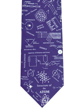 Structure of Atom Blue Tie
