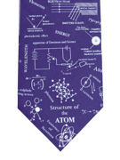 Structure of Atom Blue Tie - TIE STUDIO