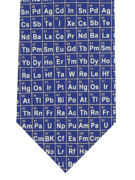 Periodic Table Tie on blue  - TIE STUDIO