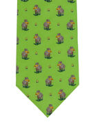 Dog & Bird Shooting Tie - TIE STUDIO