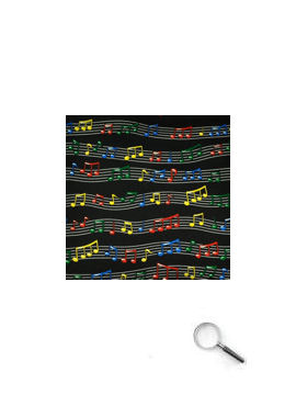 Hanky - Music staves colourful
