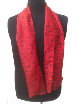 Music notes Scarf on red