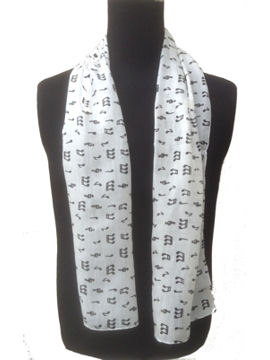 Musical notes silk scarf