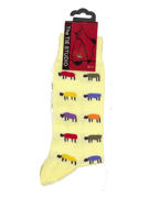 Colourful sheep on yellow - TIE STUDIO