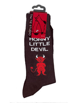 Horny Little Devil Socks (Black)
