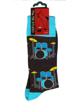 DRUMS blue socks