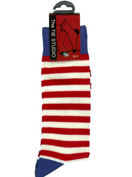 Socks - Red and white stripe