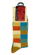 SOCKS - Multi colour Blocks - TIE STUDIO